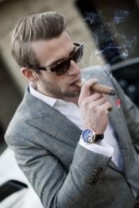 classy guy smoking cigar