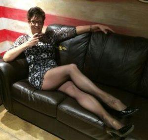 sexy woman smoking a cigar