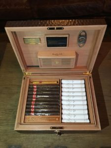 3 DM Interior Humidor and Cigars